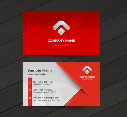 Business cards design set.