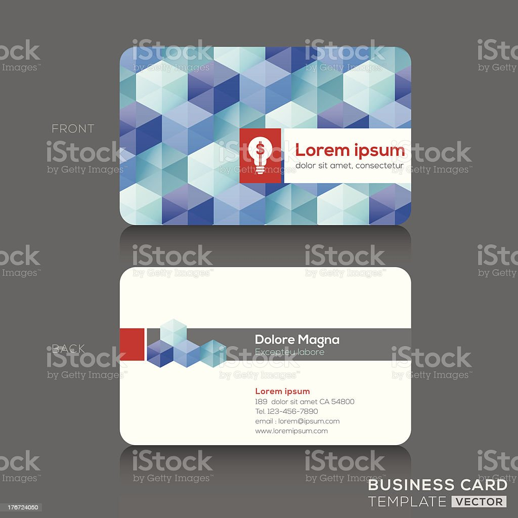 Business cards Design Template royalty-free stock vector art