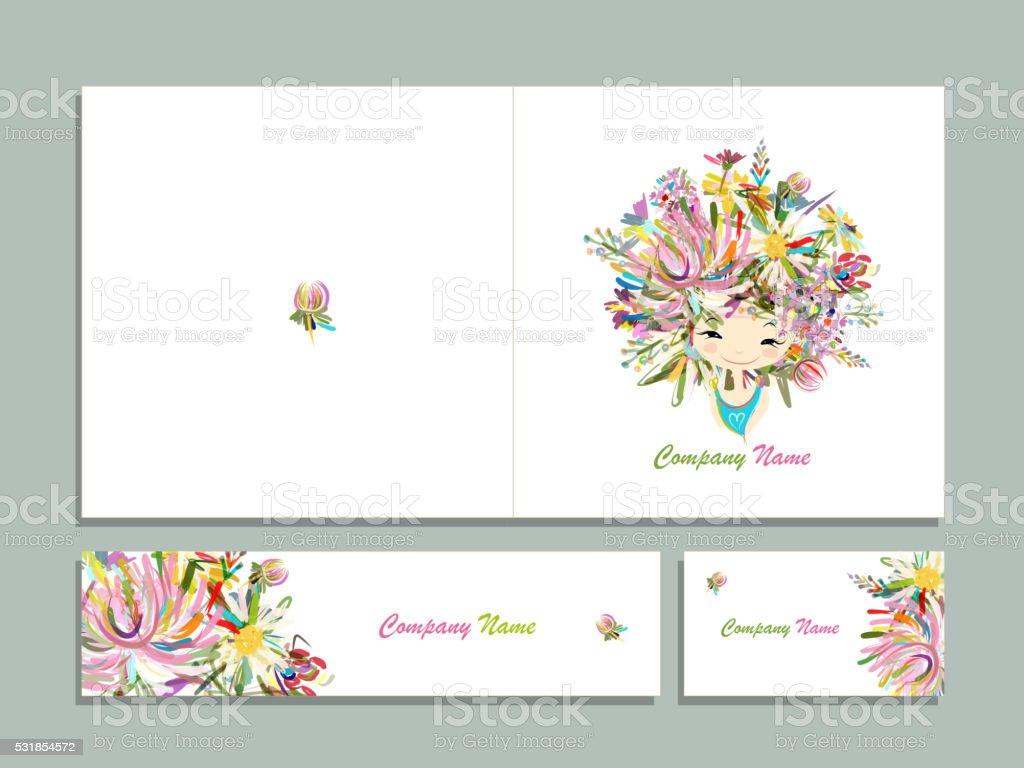 Cartes De Visite Floral Fille Pour Votre Design