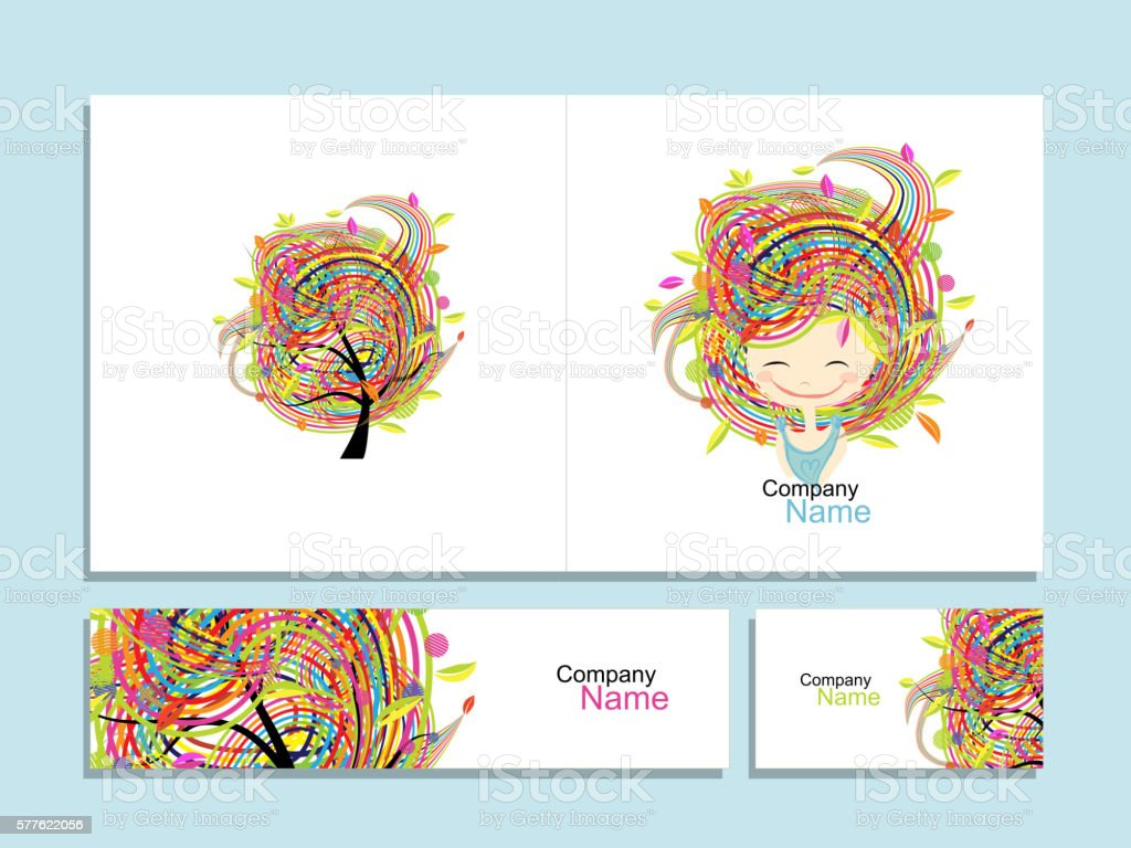Business cards floral girl for your design stock vector art more business cards floral girl for your design royalty free business cards floral girl for reheart Gallery