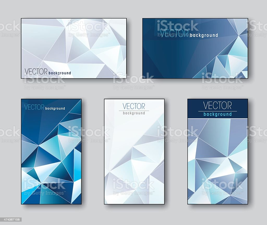 Business Cards Or Gift Cards Collection Stock Vector Art & More ...