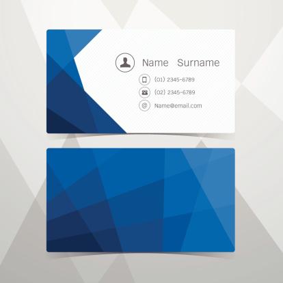 Business Cards Polygonal design. Vector illustration