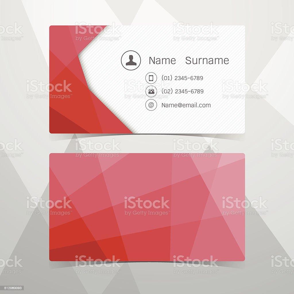 Cartes De Visite Rouge Polygonal Illustration Vectorielle