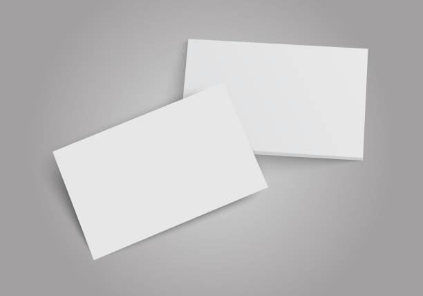 Business cards stack. Template for branding identity. Flat Design Vector Illustration EPS10 Business cards stack. Template for branding identity. Flat Design Vector Illustration EPS10 greeting cards templates stock illustrations