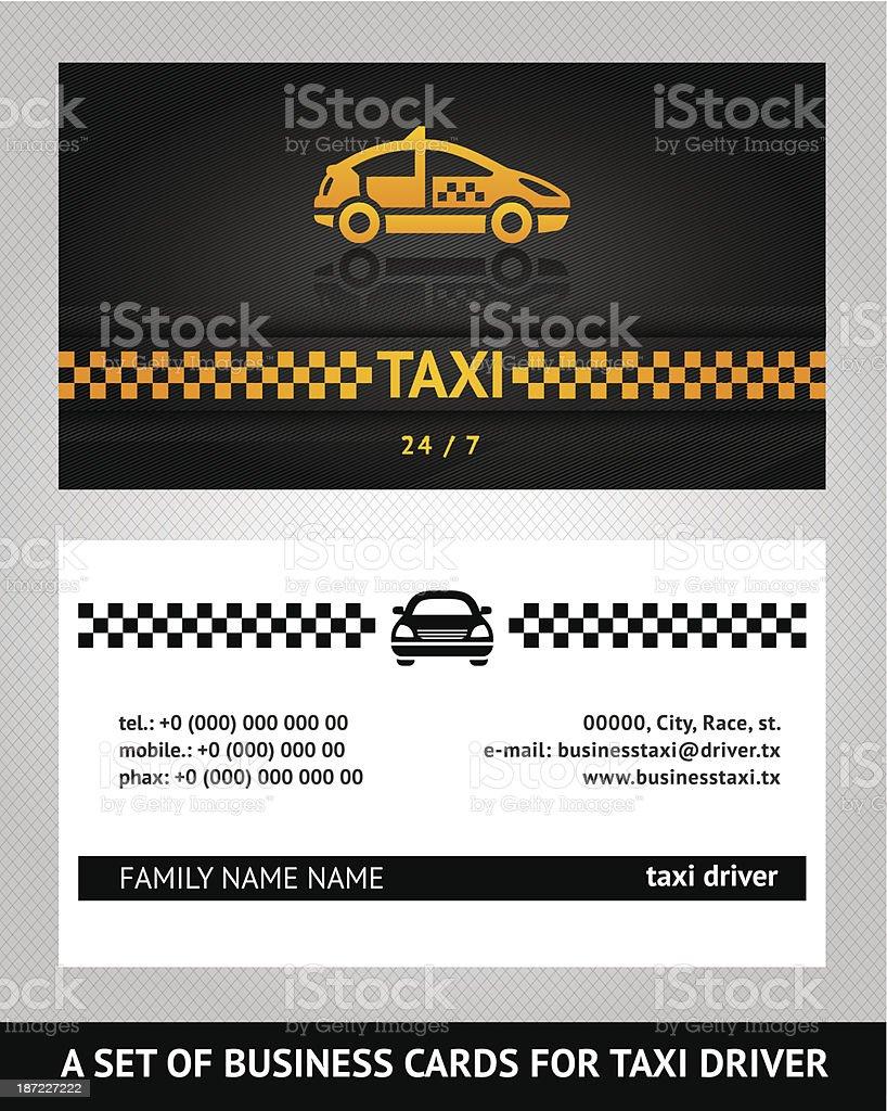 Visitenkarten Taxi Cab Stock Vektor Art Und Mehr Bilder Von