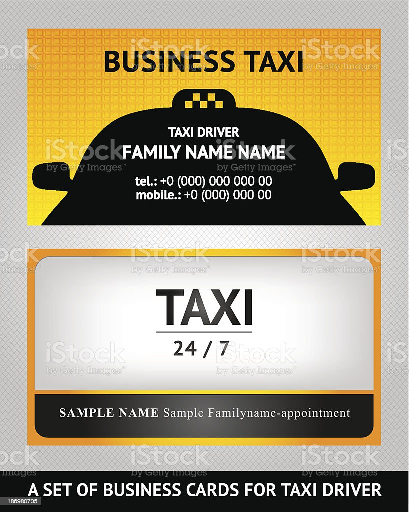 Carte De Visite Taxi Set Taxiset Cliparts Vectoriels Et Plus D