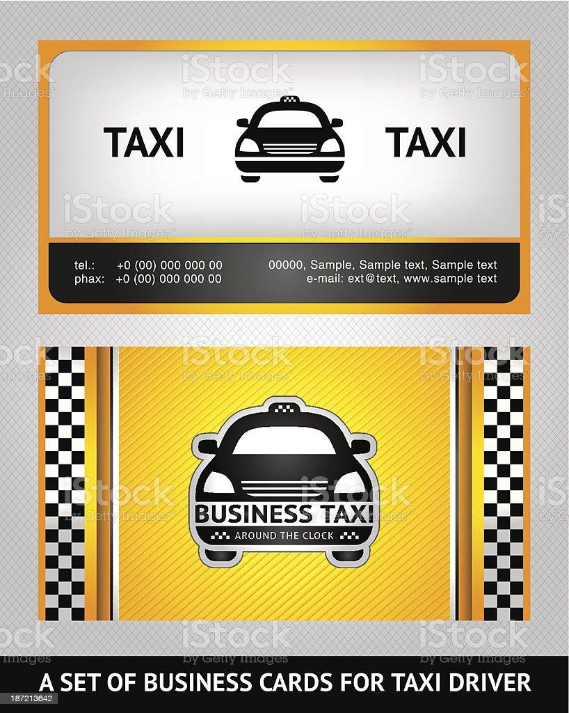 Cartes De Visite Taxi Ensemble Cliparts Vectoriels Et Plus D