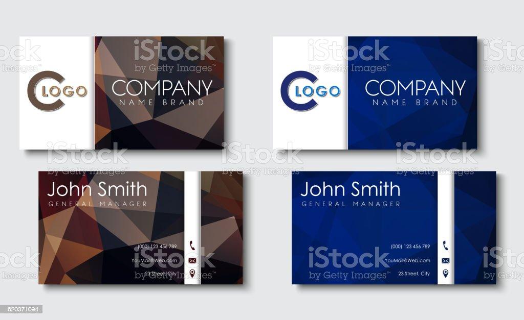 Business cards templates in the style of the material design business cards templates in the style of the material design - stockowe grafiki wektorowe i więcej obrazów abstrakcja royalty-free
