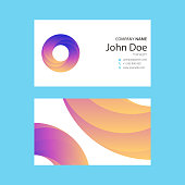 Vector illustration of a set of business cards templates. Elegant and minimalistic designs.