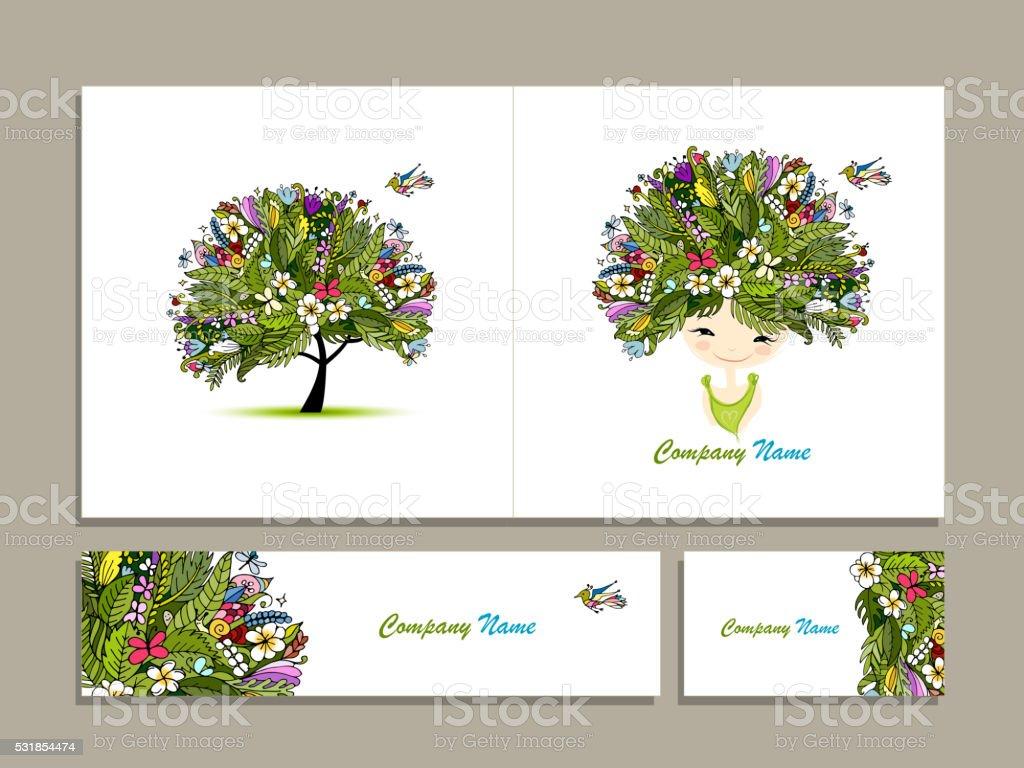 Cartes De Visite Tropical Fille Pour Votre Design