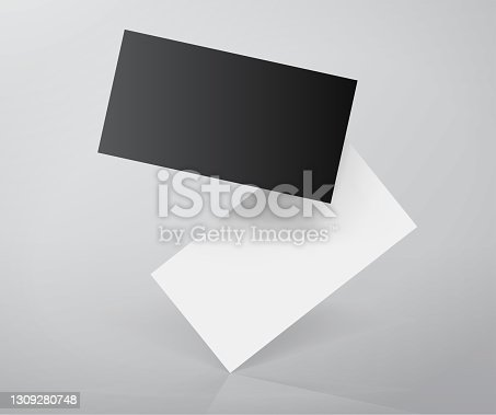 Business cards template design mockup