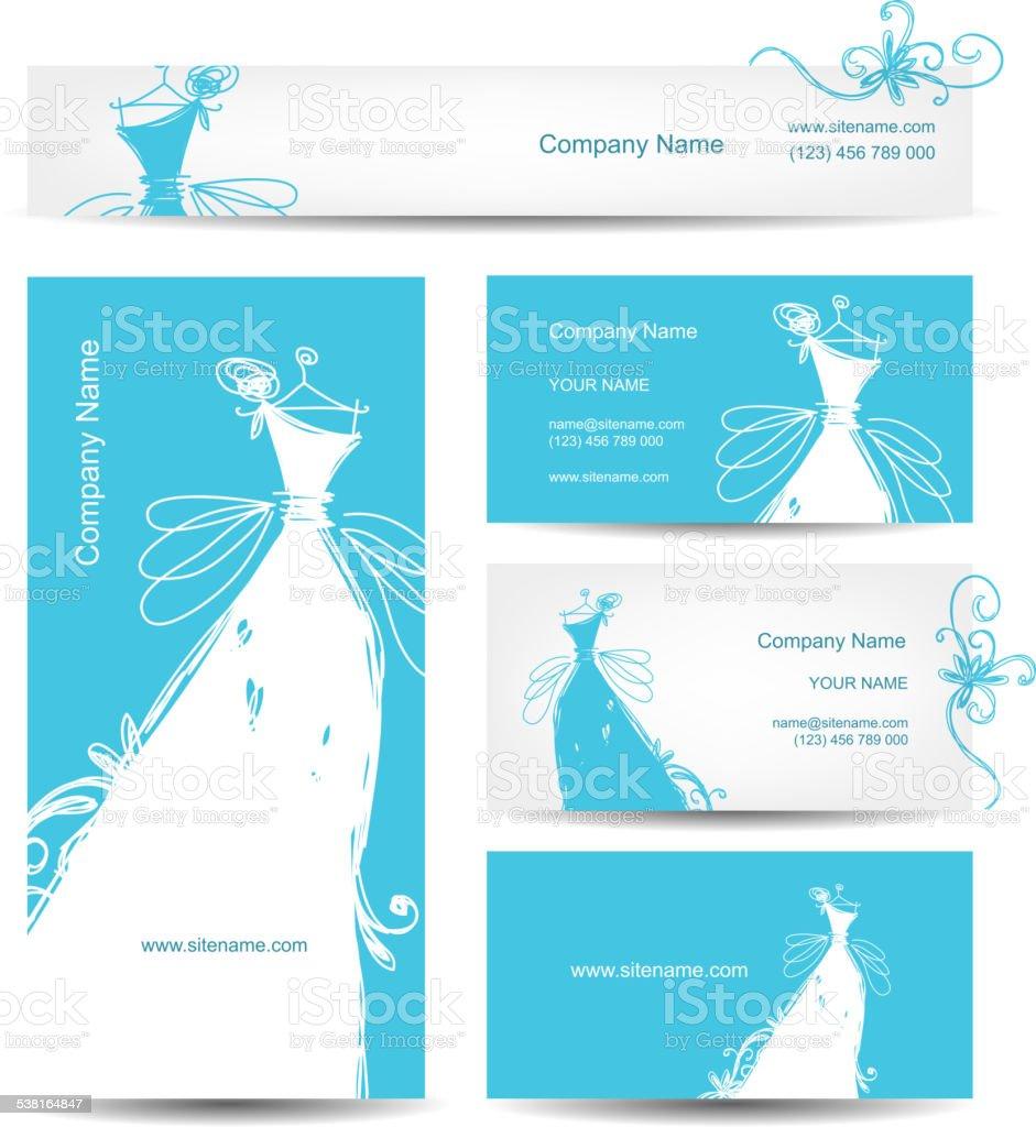 Cartes De Visite Avec Robe Mariage Pour Votre Design