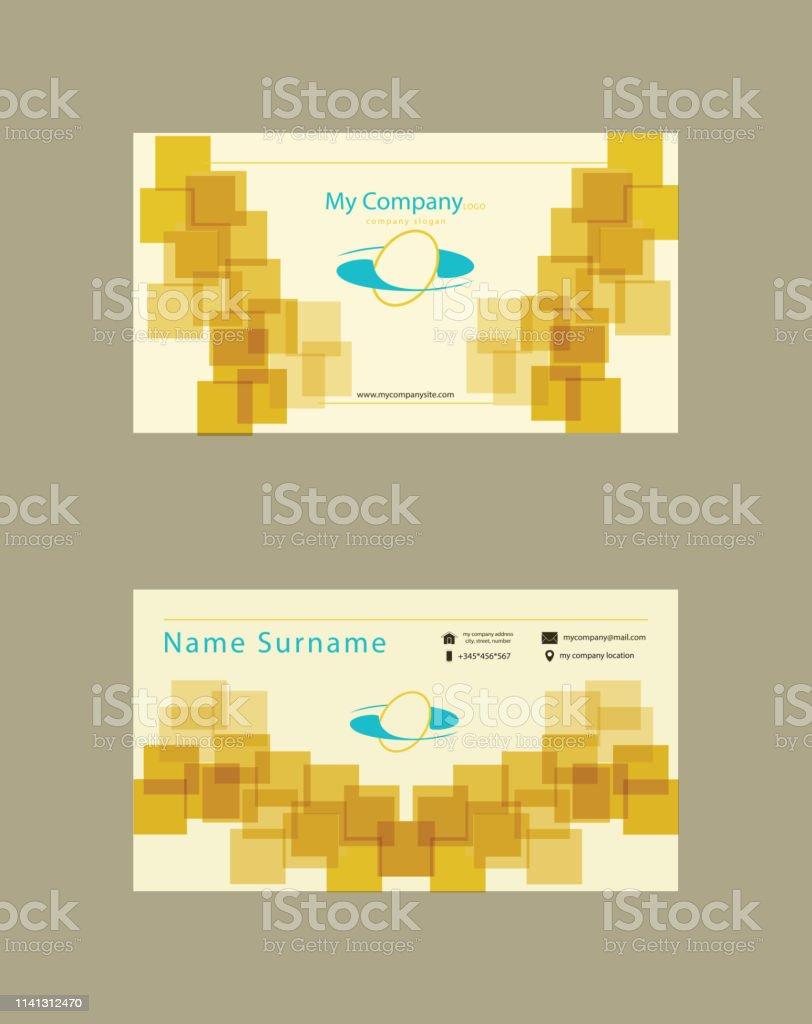 Visitenkarte Quadratisch Stock Vektor Art Und Mehr Bilder