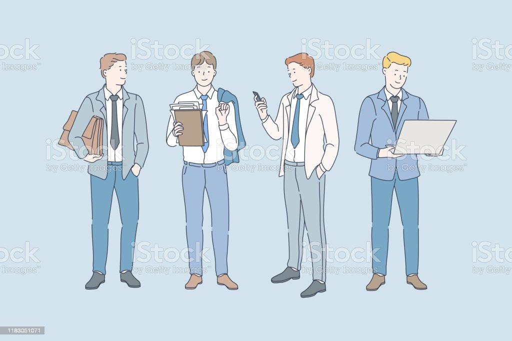 Business, career and job concept. - arte vettoriale royalty-free di Abbigliamento da lavoro