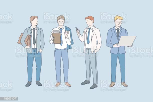 Business Career And Job Concept - Immagini vettoriali stock e altre immagini di Abbigliamento da lavoro