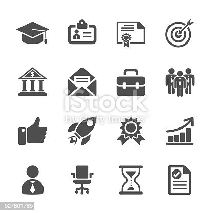 business career work icon set, vector eps10..