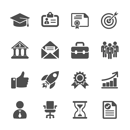 business career work icon set, vector eps10