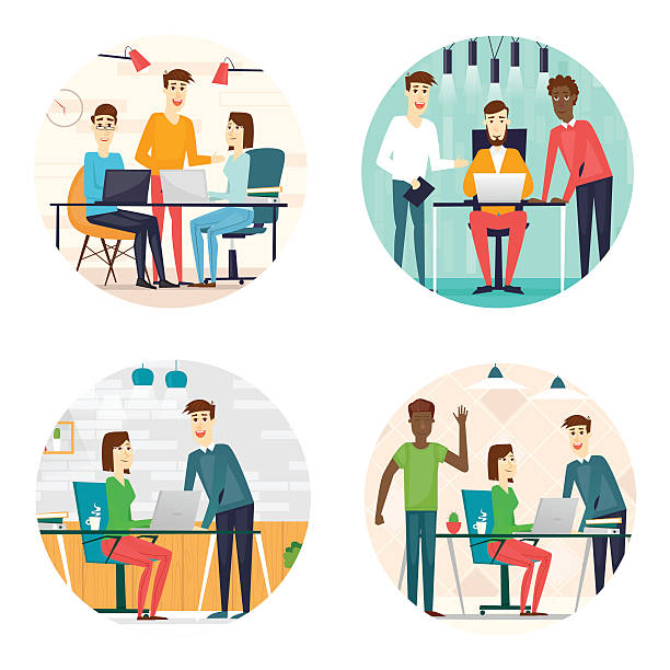 Royalty Free Office People Working. Clip Art, Vector ...
