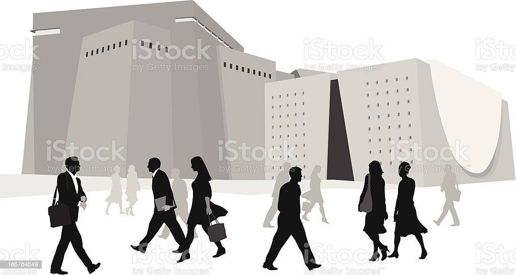 Business Center Vector Silhouette royalty-free business center vector silhouette stock vector art & more images of adult