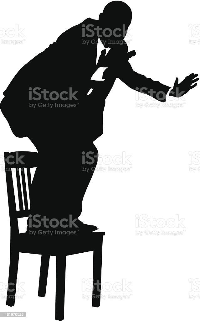 Business Chair vector art illustration