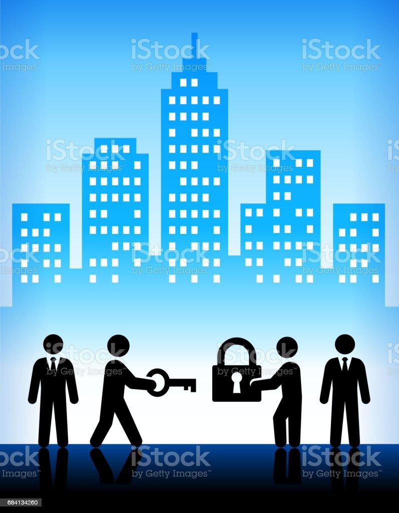 Business Challanges and Solutions Modern City Background royalty free business challanges and solutions modern city background stockvectorkunst en meer beelden van achtergrond - gefabriceerd object