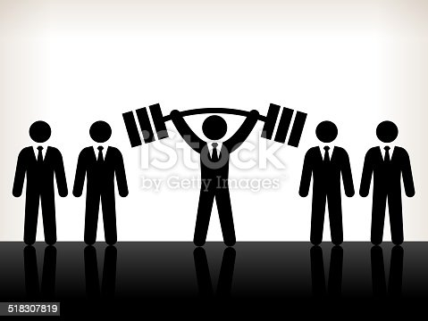 Business Challenges and Success Back and White Illustration