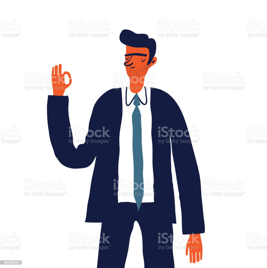 business character vector art illustration