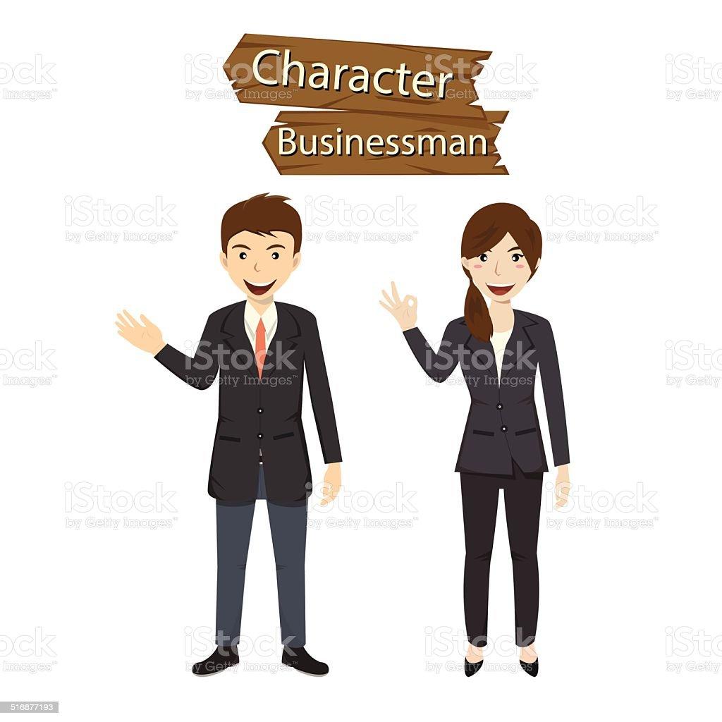 Business character vector illustration vector art illustration
