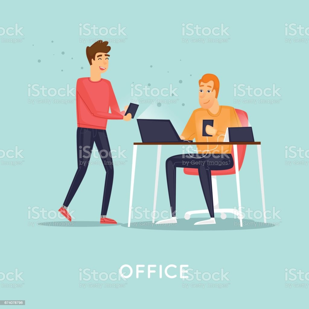 Business characters. Co working people, meeting, teamwork, collaboration and discussion, conference table, brainstorm. Workplace. Office life. Flat design vector illustration. royalty-free business characters co working people meeting teamwork collaboration and discussion conference table brainstorm workplace office life flat design vector illustration stock vector art & more images of adult