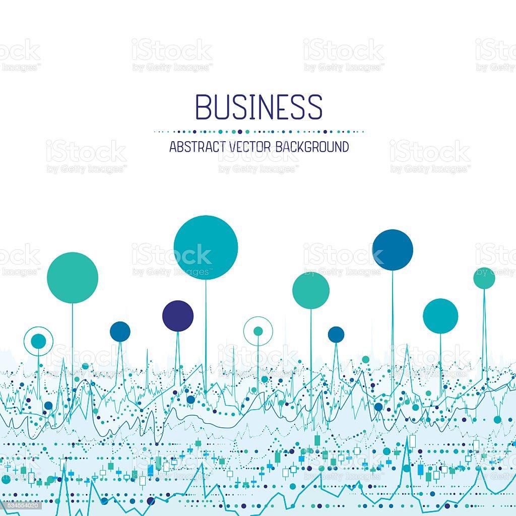 Business chart background vector art illustration