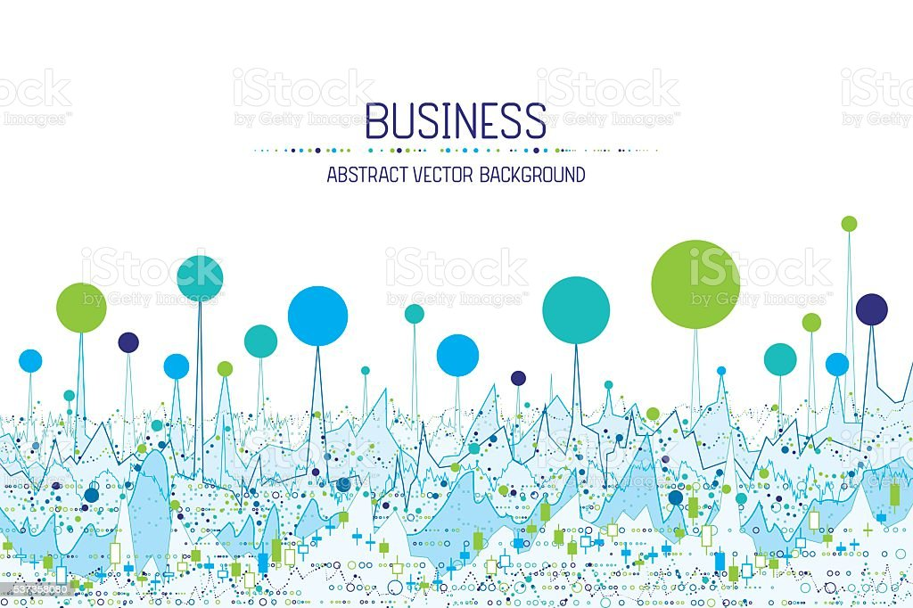 Business chart banner vector art illustration