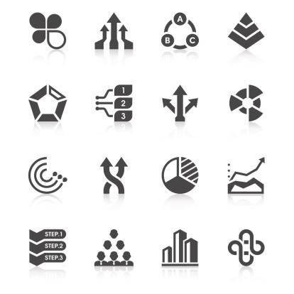 Business Chart Icon Set   Unique Series