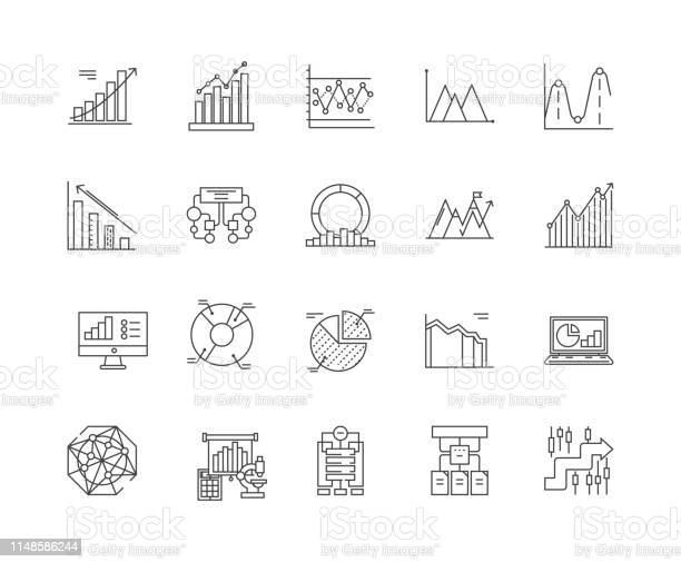 Business charts line icons signs vector set outline illustration vector id1148586244?b=1&k=6&m=1148586244&s=612x612&h=gwfif0xl08smzhtm0mmnzymuhapkb9cb4xe8cc2mkto=