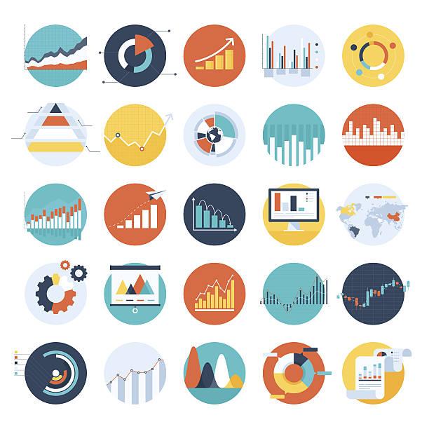 Business-charts – Vektorgrafik