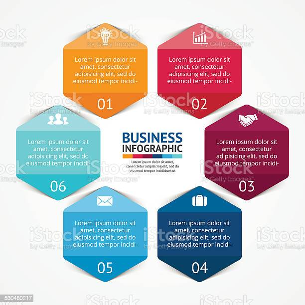 Business Circle Infographic Diagram With Options Stock Illustration - Download Image Now