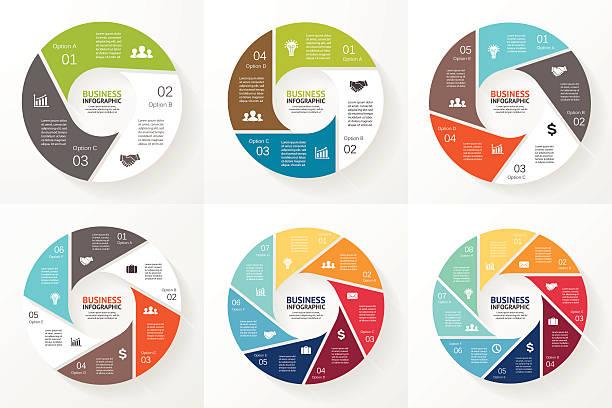 biznes koło infographic, schemat z opcji - część stock illustrations