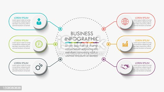 istock Business circle. timeline infographic icons designed for abstract background template 1208080838