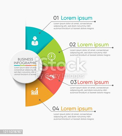 istock Business circle. timeline infographic icons designed for abstract background template 1211078767