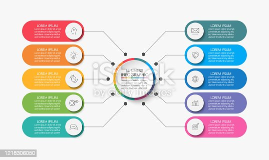 istock Business circle. timeline infographic icons designed for abstract background template 1218306050