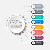 istock Business circle. timeline infographic icons designed for abstract background template 1226681000