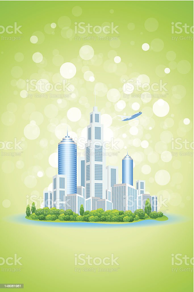 Business City Island royalty-free stock vector art