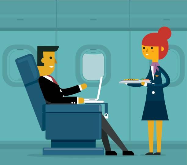 i̇ş sınıfı - işadamı - airplane seat stock illustrations