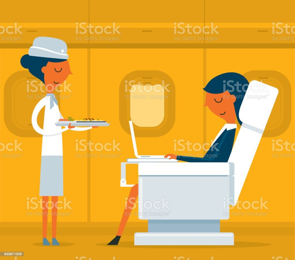 Business class - Businesswoman vector art illustration