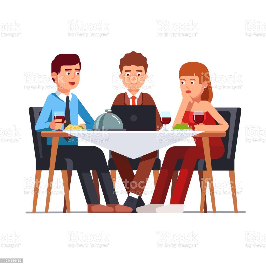 Les Entreprises Clientes De Reunion A Table Du Restaurant Illustration De Cliparts Vecteur Plat Vecteurs Libres De Droits Et Plus D Images Vectorielles De Adulte Istock
