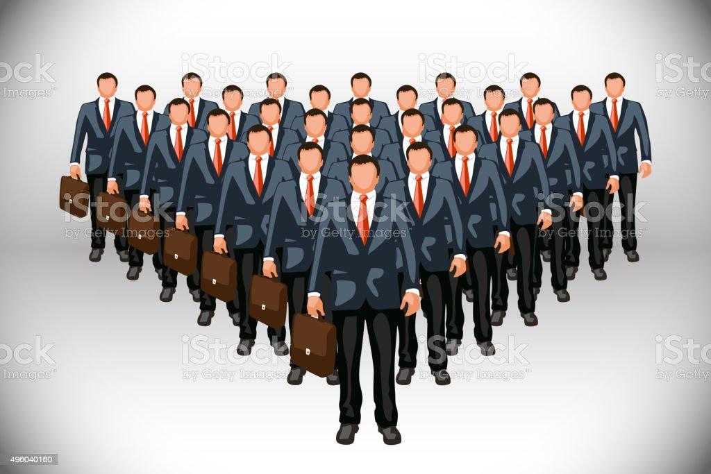 business clone vector art illustration