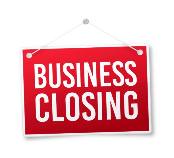 business closing sign - wisieć stock illustrations