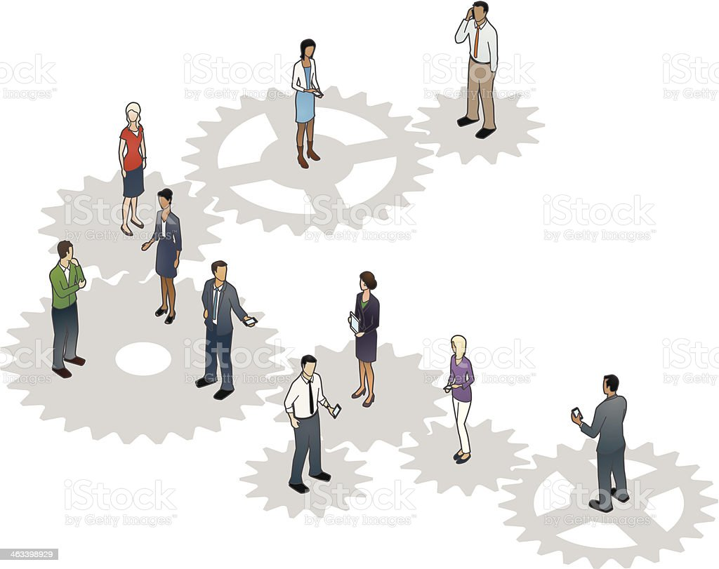 Business Cogs Illustration vector art illustration