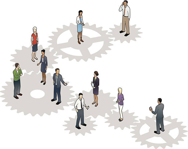 Business Cogs Illustration vector art illustration