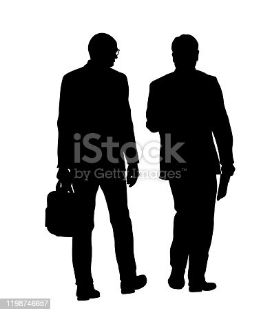istock Business Colleagues Walking Silhouettes 1198746657