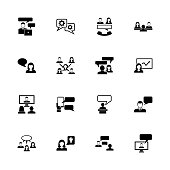 Business Communication - Flat Vector Icons